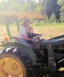 Bella and Papa on the tractor